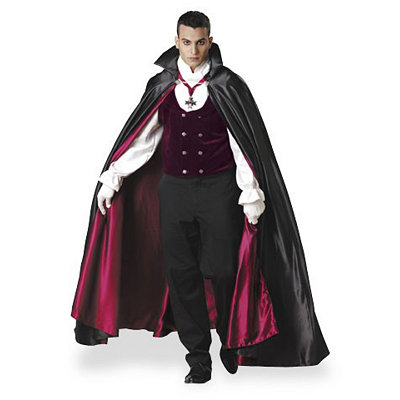Men's Vintage Style Suits, Classic Suits Adult Gothic Vampire Costume - Theatrical $169.99 AT vintagedancer.com