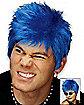 Short Blue Punk Wig