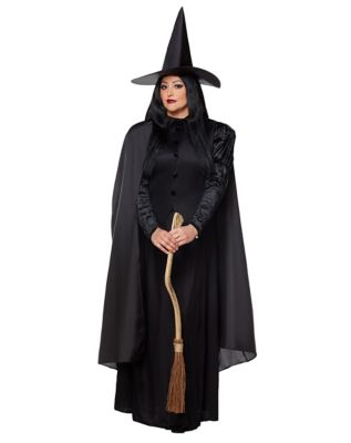 Easy DIY Edwardian Titanic Costumes 1910-1915 Adult Black Witch Plus Size Costume by Spirit Halloween $39.99 AT vintagedancer.com