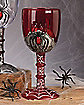 Plastic Spiderweb Red Goblet