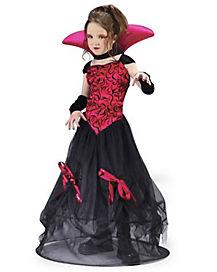 Kids Goth Hoop Vampira Costume