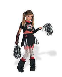 Kids Dead Cheerleader Zombie Costume