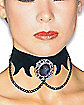 Velvet Choker with Pendant