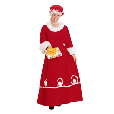 Adult Mrs Claus Costume - Deluxe