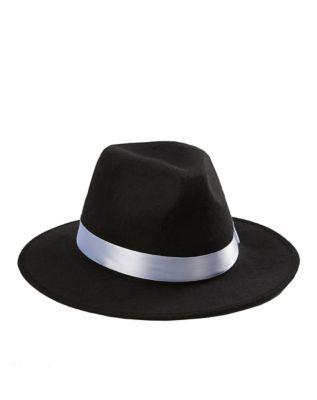 1920s Men's Costumes: Gatsby, Gangster, Peaky Blinders, Mobster, Mafia Gangster Hat by Spirit Halloween $9.99 AT vintagedancer.com
