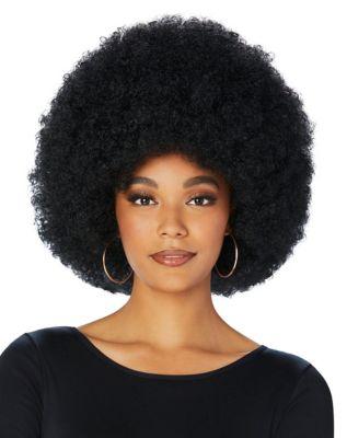 Vintage Hair Accessories: Combs, Headbands, Flowers, Scarf, Wigs Black Afro Wig by Spirit Halloween $16.99 AT vintagedancer.com