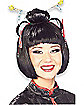 Black Bob Wig With Chopsticks