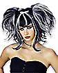 Bad Fairy Black and White Wig