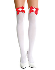 Naughty Nurse Thigh High Stockings