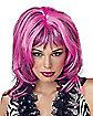 Hard Rockin' Witch Wig Pink