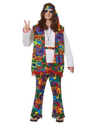 60s -70s  Men's Costumes : Hippie, Disco, Beatles Adult Hippy Dippy Man Hippie Costume by Spirit Halloween $34.99 AT vintagedancer.com
