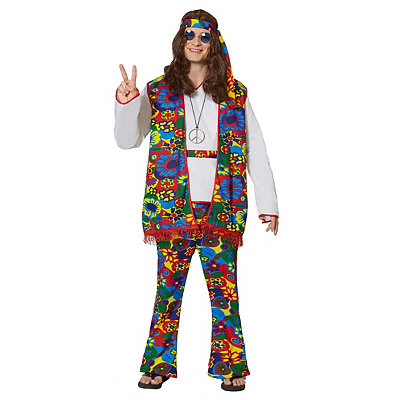 1960s Inspired Fashion: Recreate the Look Adult Hippy Dippy Man Hippie Costume $34.99 AT vintagedancer.com