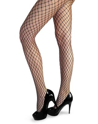 1920s Style Stockings, Tights, Fishnets & Socks Black Fishnet Stockings by Spirit Halloween $8.99 AT vintagedancer.com
