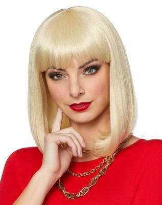 Vintage Hair Accessories: Combs, Headbands, Flowers, Scarf, Wigs Blonde Pageboy Wig by Spirit Halloween $16.99 AT vintagedancer.com