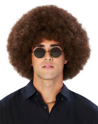 Vintage Hair Accessories: Combs, Headbands, Flowers, Scarf, Wigs Brown Afro Wig by Spirit Halloween $16.99 AT vintagedancer.com
