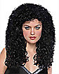 Curly Long Black Womens Wig