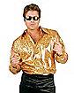 Disco Gold Glitter Men Shirt