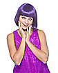 Short Purple Bob Adult Wig