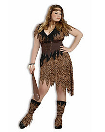 Adult Cave Beauty Plus Size Costume