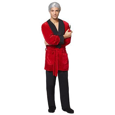 Vintage Men's Costumes – 1920s, 1930s, 1940s, 1950s, 1960s Adult Hef Smoking Jacket Costume - Playboy $59.99 AT vintagedancer.com