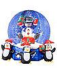 Airblown Inflatable Snowman w/ Penguins Snowglobe