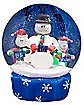 Airblown Inflatable Snowman w/ Carolers Snowglobe