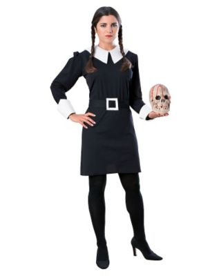 60s Costumes: Hippie, Go Go Dancer, Flower Child Adult Wednesday Addams Costume - The Addams Family by Spirit Halloween $39.99 AT vintagedancer.com