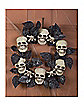 Skull Wreath With Black Leaves