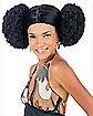 Afro Puffs Adult Wig