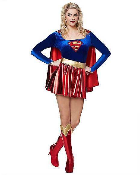 Adult Supergirl Costume - DC Comics  sc 1 st  Spirit Halloween : supergirl costume for adults  - Germanpascual.Com