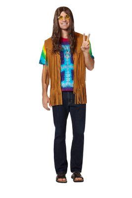 60s -70s  Men's Costumes : Hippie, Disco, Beatles Fringed Suede Hippie Vest by Spirit Halloween $19.99 AT vintagedancer.com