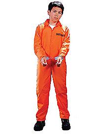 Kids Prisoner Jumpsuit Costume - Spirithalloween.com