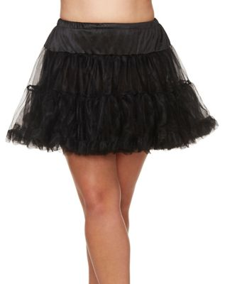 Steampunk Skirts   Bustle Skirts, Lace Skirts, Ruffle Skirts Black Plus Size Petticoat by Spirit Halloween $24.99 AT vintagedancer.com