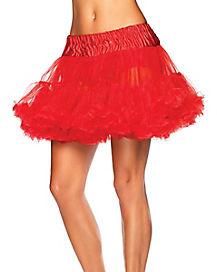 Red Plus Size Petticoat