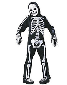 Kids Totally Skelebones One Piece Costume