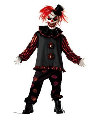 Sinister Jester Clown Child Costume