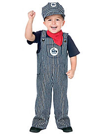 Toddler Train Engineer One Piece Costume