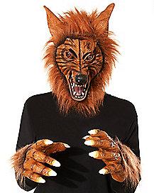 Animotion Brown Werewolf Mask - Spirithalloween.com