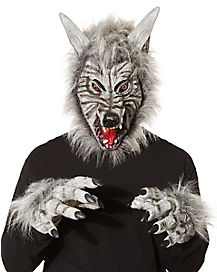 Grey Wolf Mask with Hands