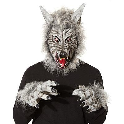 Animotion Gray Werewolf Mask - Spirithalloween.com