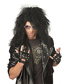 Black Heavy Metal Rocker Wig