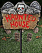 Haunted House Light Up Lawn Stake
