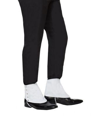 1920s Men's Costumes: Gatsby, Gangster, Peaky Blinders, Mobster, Mafia 20s White Gangster Spats by Spirit Halloween $6.99 AT vintagedancer.com