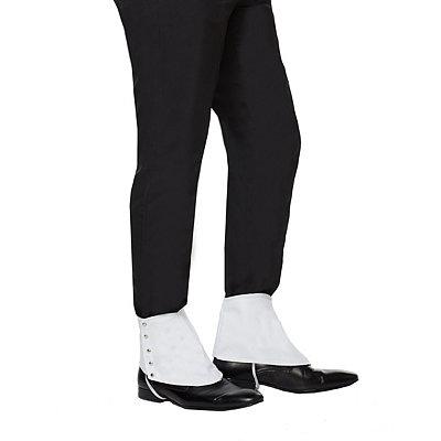 1920s Men's Costumes 20s White Gangster Spats $6.99 AT vintagedancer.com