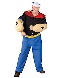 Adult Popeye Costume - Popeye the Sailor Man