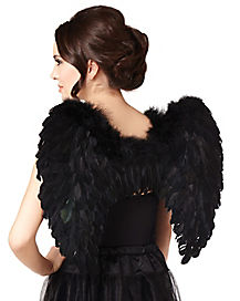 d3c2e519b146c Black Faux Feather Wings