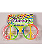 Hippie Rainbow Peace Glases