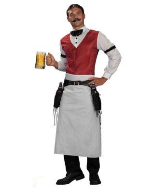 Victorian Men's Costumes: Mad Hatter, Rhet Butler, Willy Wonka Mens Bartender Costume by Spirit Halloween $39.99 AT vintagedancer.com