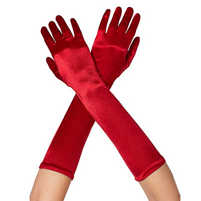 Vintage Style Gloves Long Red Satin Gloves $9.99 AT vintagedancer.com