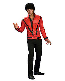 Adult Red Thriller Jacket Costume - Michael Jackson